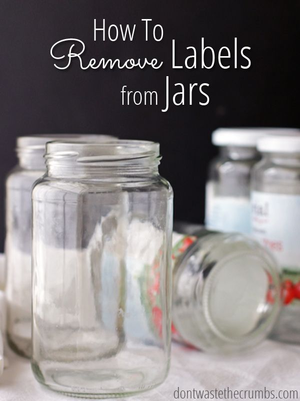 remove labels from jars a simple diy with one ingredient money jars and hands. Black Bedroom Furniture Sets. Home Design Ideas
