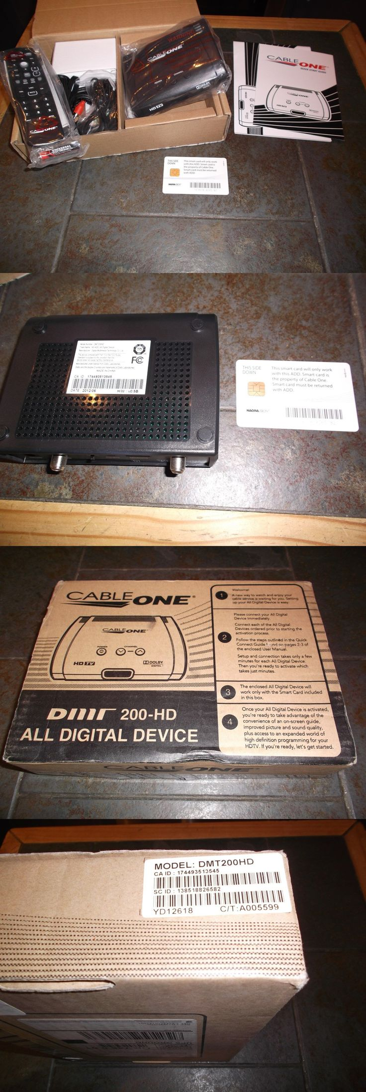 Satellite TV Receivers: Cable One Dmt200hd Hd Cable Box With Full Accessories And Smart Card -> BUY IT NOW ONLY: $49.99 on eBay!