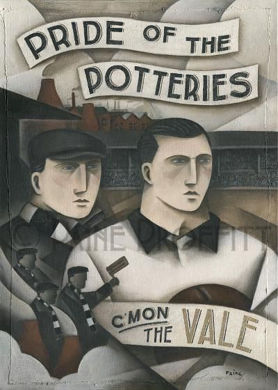 Port Vale - Heros and Bottle Kilns Ltd Edition Print by Paine Proffitt