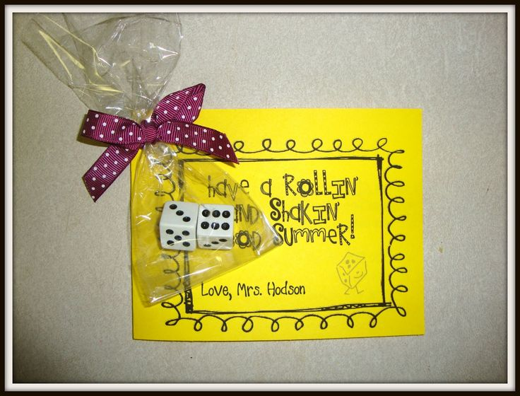 End of the Year Dice Gift with lots of math game instructions included