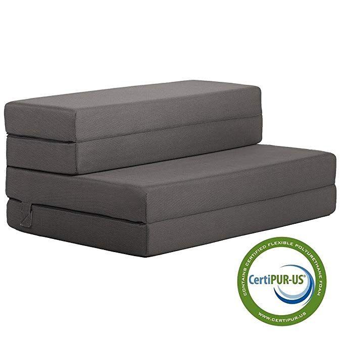 Folding Mattress Guest Bed Camping Cot Tri Fold 4 Foam Sofa Floor