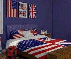 british themed bedroom - Google Search
