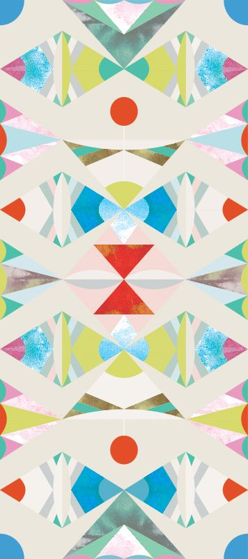 Removable geometric wallpaper / Coconino / Desert Sun from Timothy Sue #tribal #indian #colorful