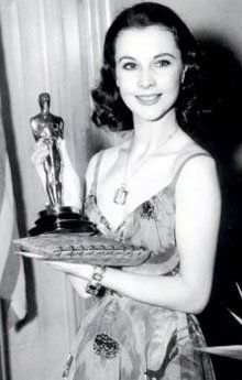 Vivien Leigh , Winner Best Actress for Gone With The Wind in 1939