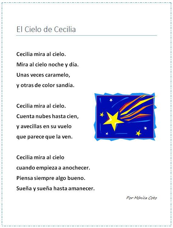"""Poema infantil Ideal para enseñar el sonido suave y fuerte de la """"C"""". Bilingual Education."""