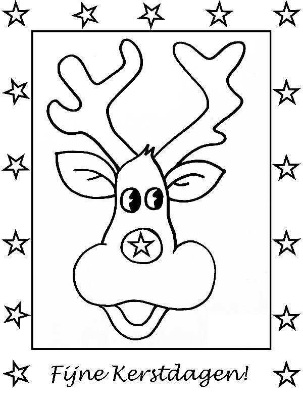 Kleurplaten Kerst Kaart.Kerstkaarten Zelf Kleuren Gratis Kerstkaarten
