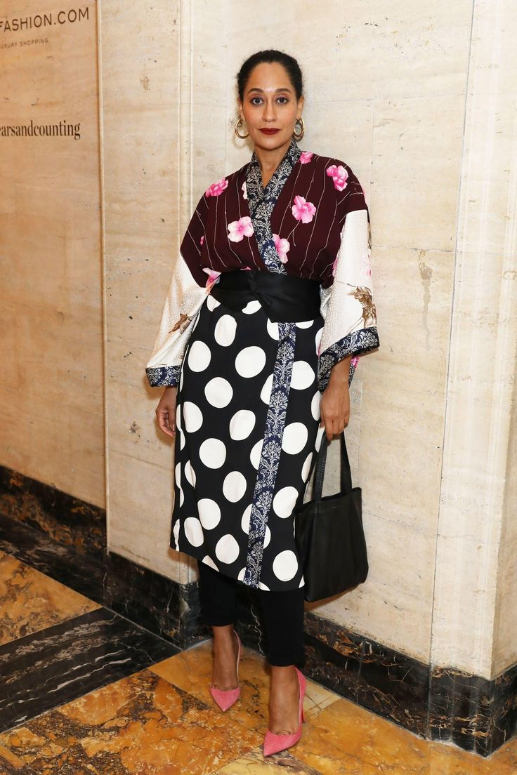 Actress Tracee Ellis Ross joined us for dinner wearing Duro Olowu.