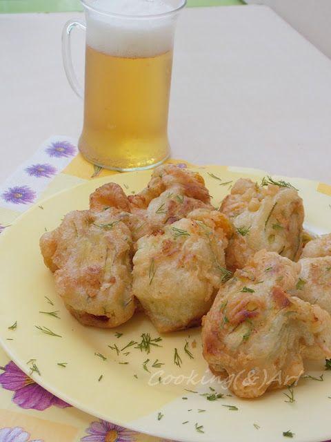 Κολοκυθοανθοί γεμιστοί με τυριά & κουρκούτι μπύρας / C(&)A