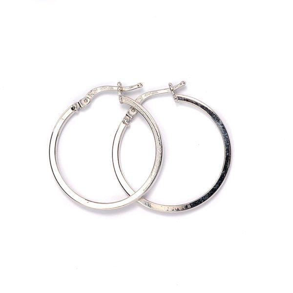 Σκουλαρίκια κρίκοι λευκόχρυσο Κ14 -7040