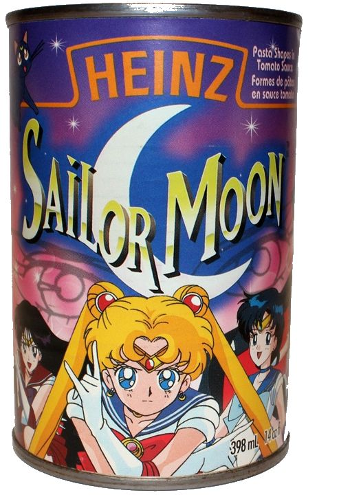 Sailor Senshi: : Sailor Mars, Sailor Moon, and Sailor Mercury. Vintage Heinz Sailormoon Pasta. $5.95. (Merchandise)