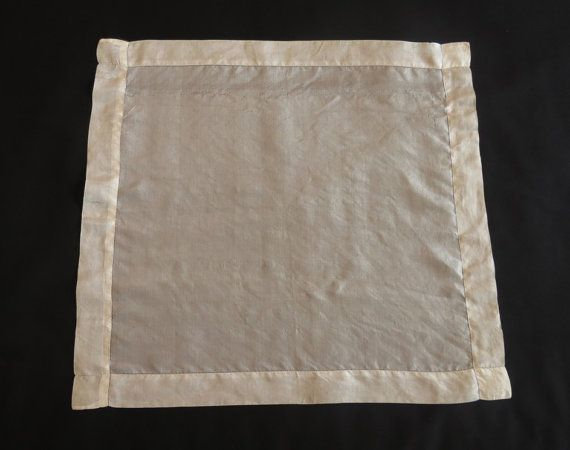 Antique Men's Silk Pocket Handkerchief