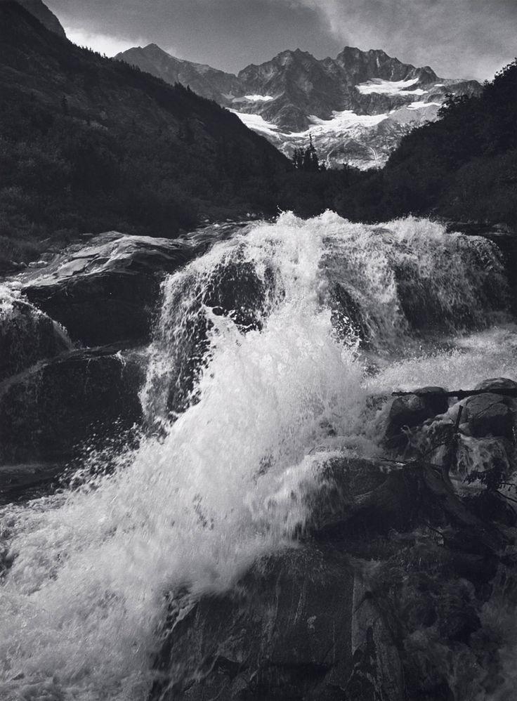 Ansel Adams - Waterfall, Northern Cascades, Washington. 1960, Gelatin silver print. Collection Center for Creative Photography, The University of Arizona