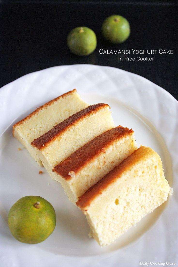 Calamansi Yoghurt Cake in Rice Cooker