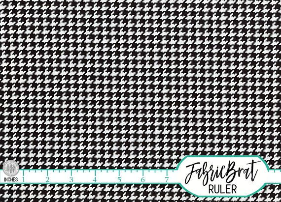 BLACK & WHITE HOUNDSTOOTH FABRIC by the YARD, FAT QUARTER, OR HALF YARD - You Choose - Geometric RETRO HOUNDS TOOTH PATTERN Print Fabric - Premium Quilting Fabric and Apparel Fabric, 100% Cotton Fabric! Woven Cotton Print Fabric 44-45 inches wide. More yardage usually available by using