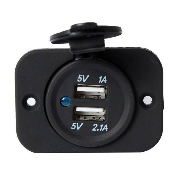USB Socket Panel Mount Double Port Auto Accessory Power Outlet 5V 2.1A  Worldwide delivery. Original best quality product for 70% of it's real price. Buying this product is extra profitable, because we have good production source. 1 day products dispatch from warehouse. Fast & reliable...