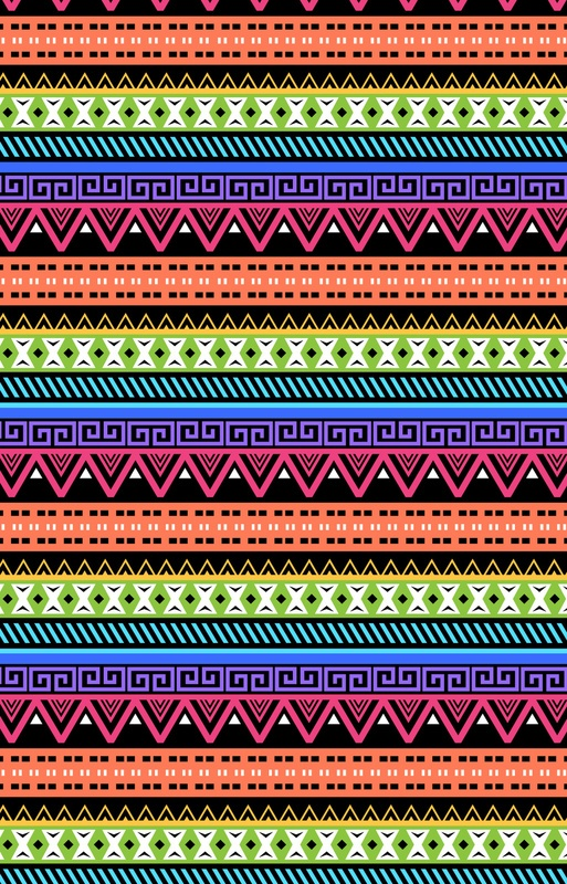 Neon Abstract Aztec Design by The Pixel Projekt   Society6