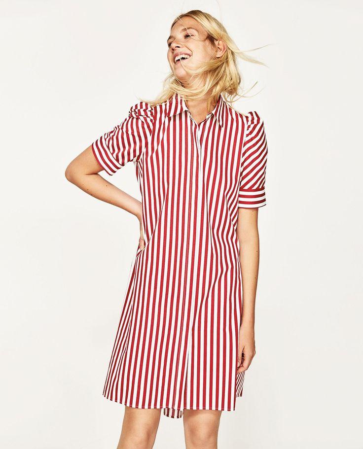 8 best Vestido rojo a rayas images on Pinterest | Camisas de rayas ...