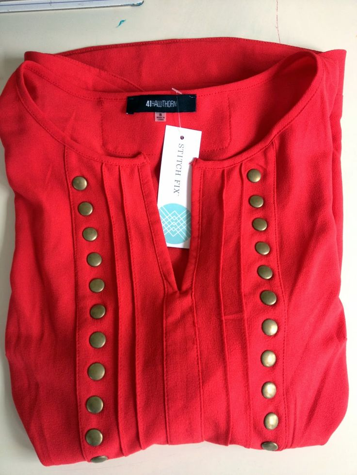 Stitch Fix - 41Hawthorn Moni Stud 3/4 Blouse (most wanted shirt & I LOVE this color)..they have it in red!!!!!