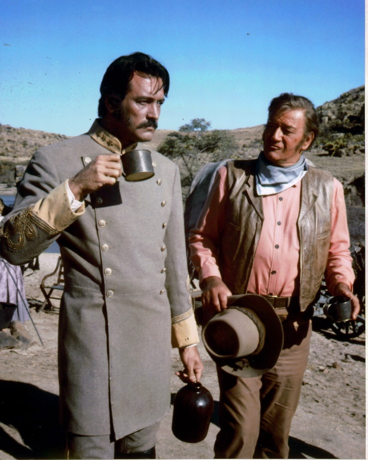 """""""The Undefeated"""" - Rock Hudson & John Wayne in location on Mexico - Directed by Andrew McLaughlin - 20th Century-Fox."""