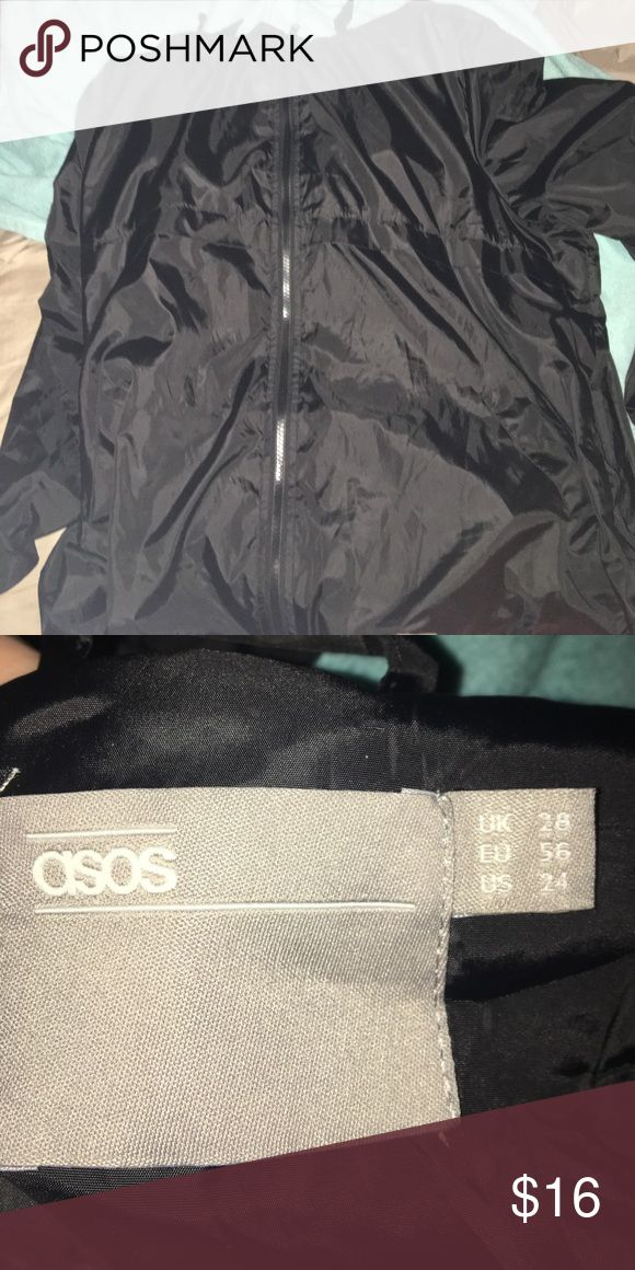 ASOS Windbreaker It's a good quality windbreaker! I'm just loosing weight and swimming in it, comfortable too! And has a good, and draw strings to tighten around the hips and hood ASOS Curve Jackets & Coats Trench Coats