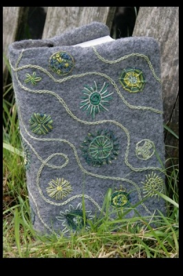Embroidered book cover by Britta Noack