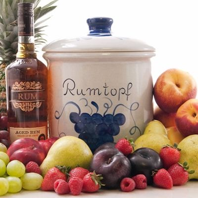 The tradition of the Rumtopf in Germany goes back centuries as a way to preserve fruits of the season.  Now it has become a favorite way to celebrate any special occasion or to enjoy whenever you want the taste of delicious fruit soaked in rum.