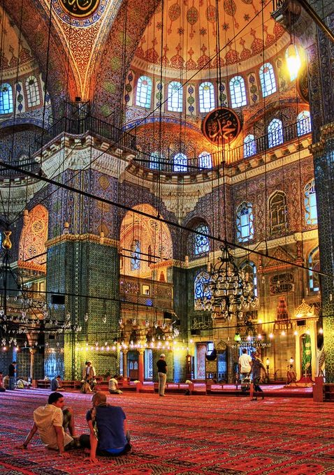 The Hagia Sophia, a beautiful and interesting place. Once a cathedral, then