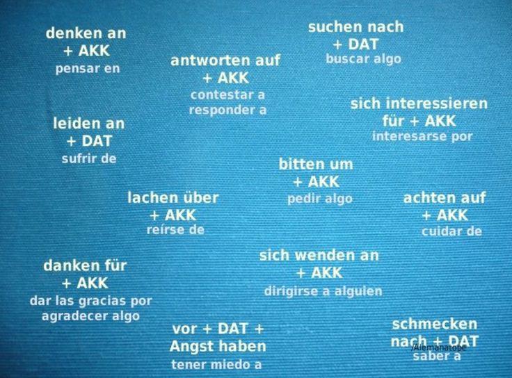 17 best ideas about verben mit dativ on pinterest for Prapositionen mit akkusativ