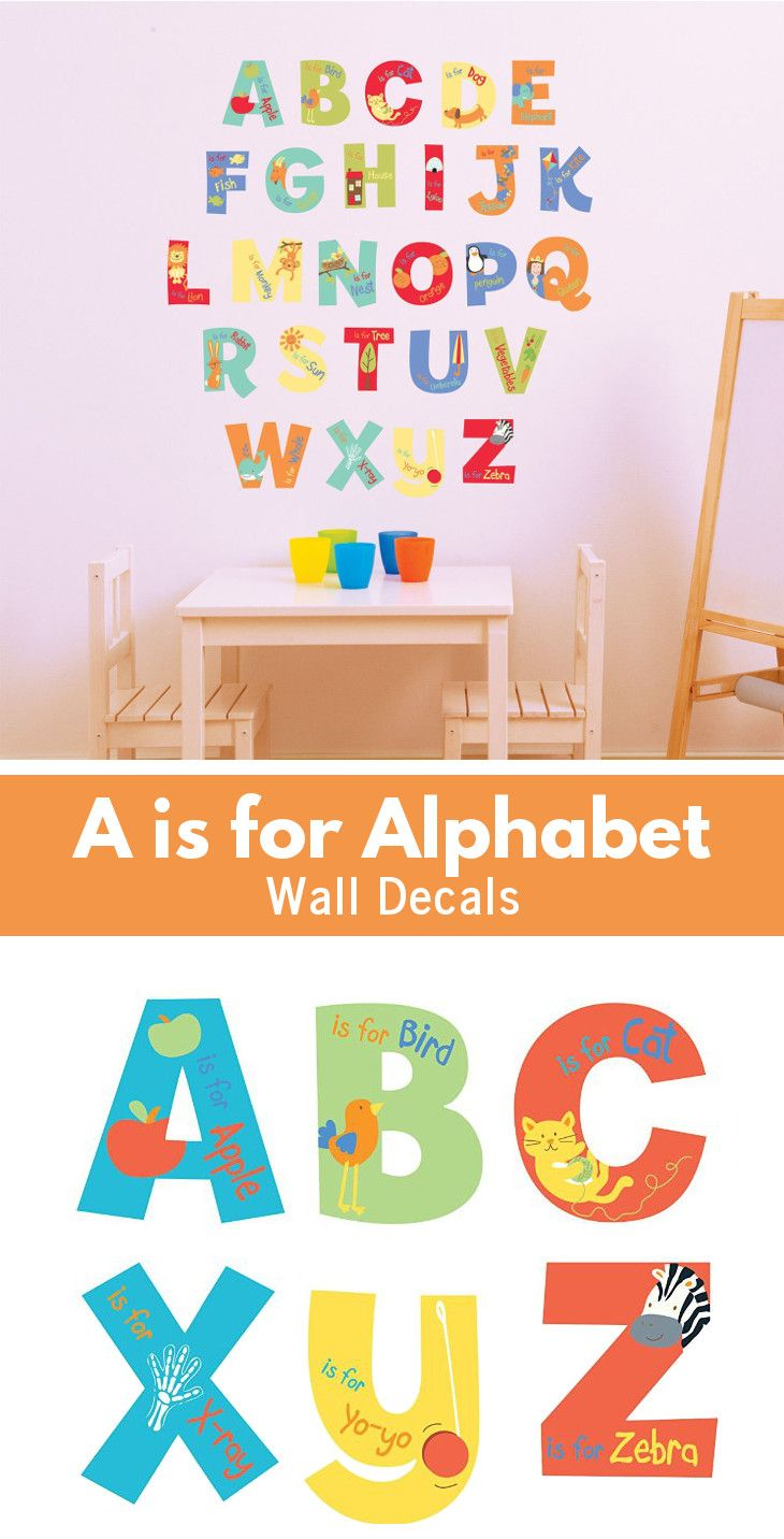best 25 alphabet wall decals ideas on pinterest love wall this alphabet wall decals are a colorful and educational way to decorate a toddler room