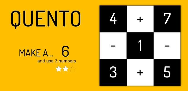 Quento, un rompecabezas de matemáticas para Android http://www.xatakandroid.com/p/89673
