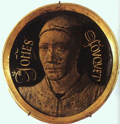 """artaddictsanonymous: """" Jean Fouquet, Self-Portrait, c. 1450 """""""