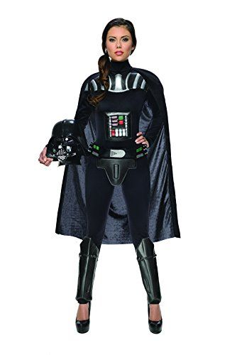 Rubie's Costume Women's Star Wars Darth Vader Woman's Deluxe Costume Jumpsuit, Multi, Medium | shopswell