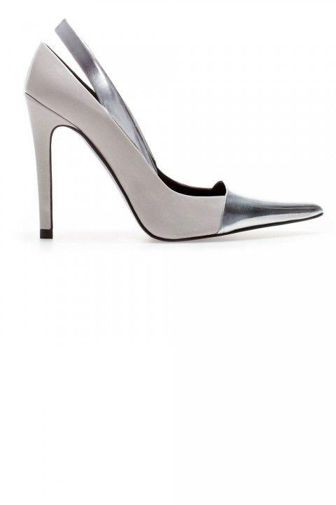 Zara Grey And Silver Heels, £69.99