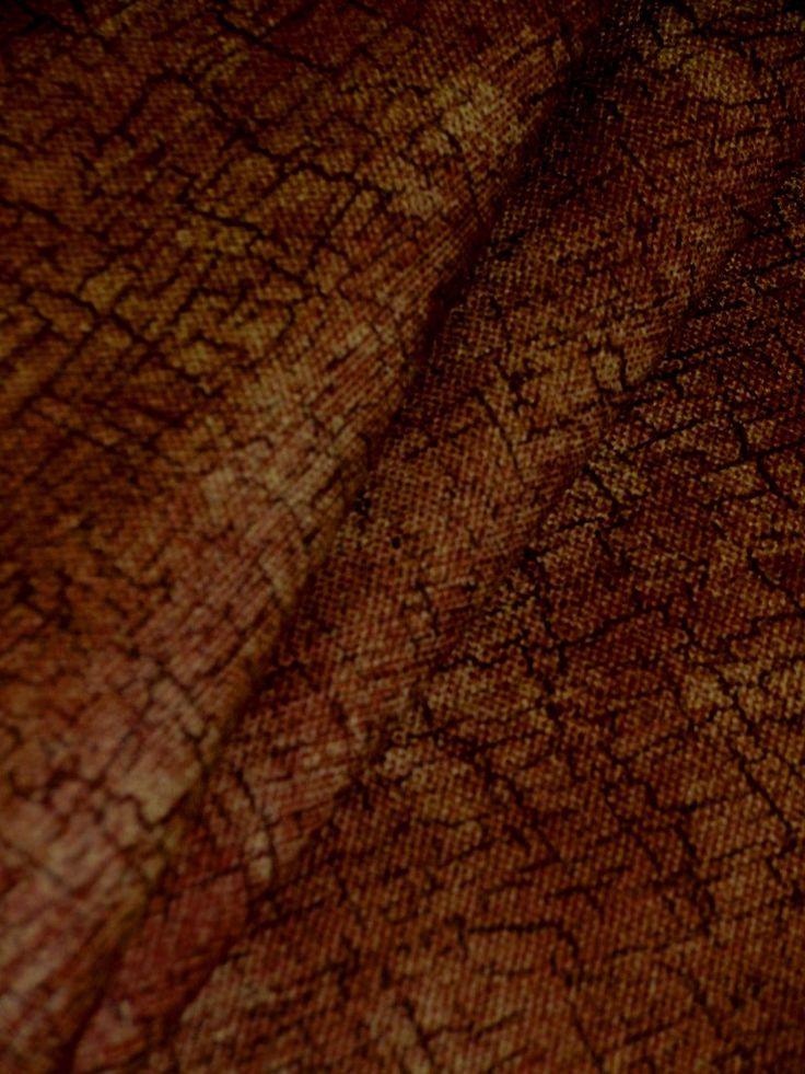 Rustic Etch Cinnamon Home Decor Fabric Medium Weight 100 Cotton Multipurpose Interior Decorating Fabric With
