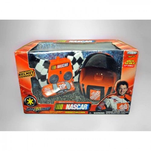 Tony Stewart Nascar 1/64 Scale Radio Control Car. Authentic Helmet Charger.  Controls speed and steering.  For Sale