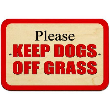 Home Red Sign Plastic Signs Red Grass
