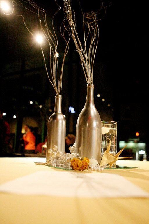 17 ideas about twig centerpieces on pinterest stick for Clear wine bottle centerpieces