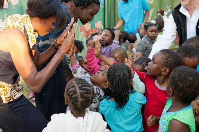 Первая леди США Мишель Обама в Йоханнесбурге, Южная Африка