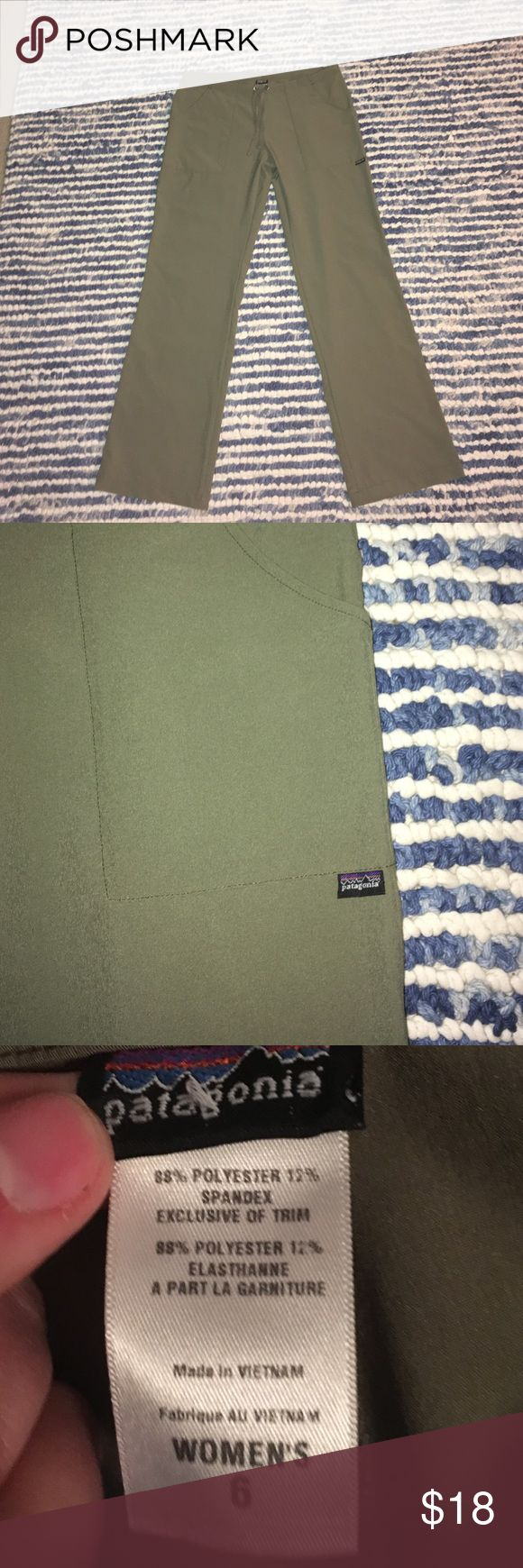 Patagonia Pants Size 6 olive green pants, by Patagonia like new Patagonia Pants Boot Cut & Flare