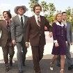Christina Applegate, Will Ferrell, Steve Carell, David Koechner and Paul Rudd in Anchorman: The Legend of Ron Burgundy