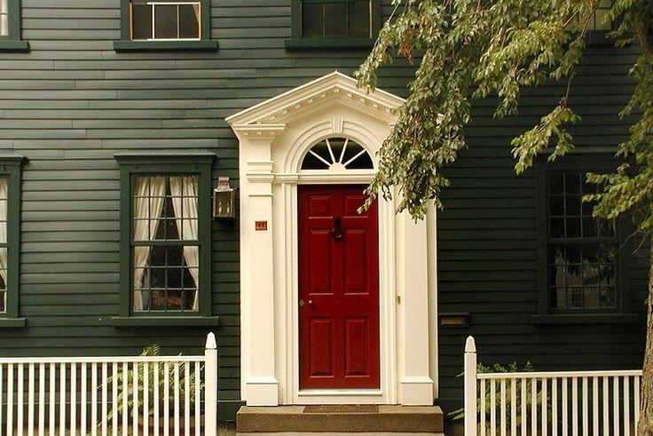 The front door what s the best color for your home what 39 s the red front doors and home - Exterior door paint colours model ...
