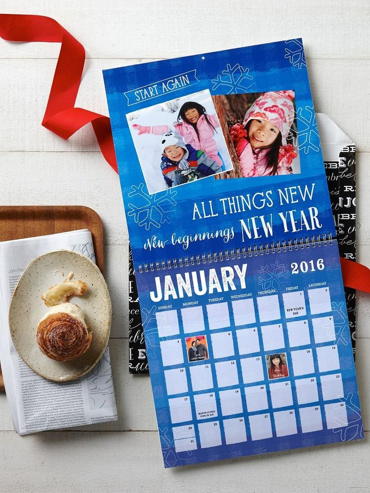 Ring in the new year with a personalized calendar you can customize with your favorite photos from 2015. | Shutterfly