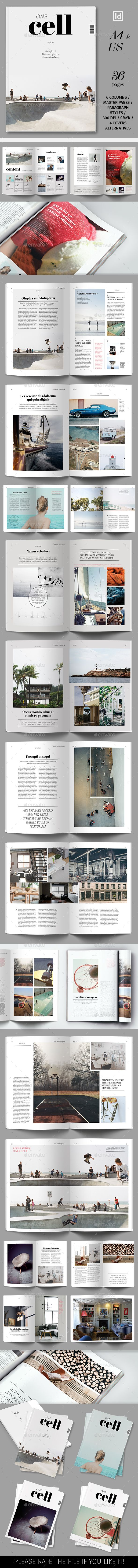 One Cell Magazine Template — InDesign INDD #multipurpose #us letter • Download ➝ https://graphicriver.net/item/one-cell-magazine-template/19284106?ref=pxcr
