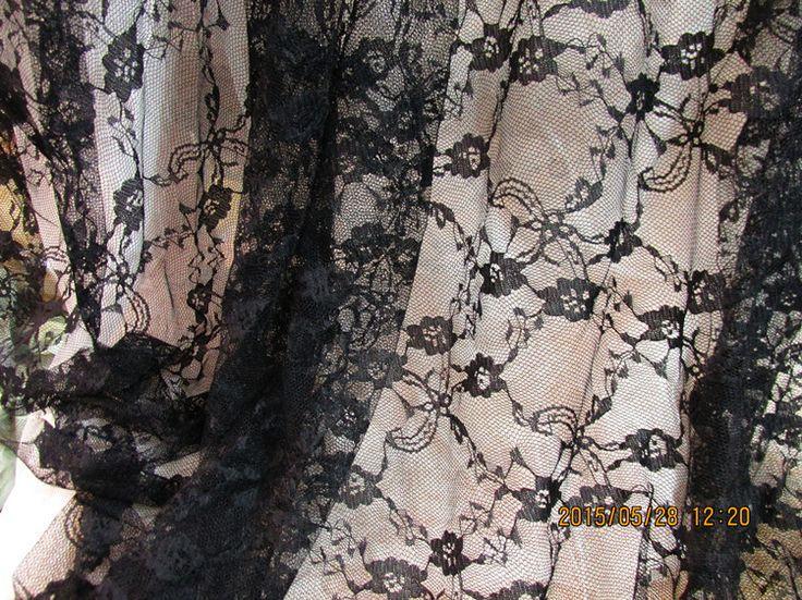 Черный кружевная ткань ширина 59 дюйм(ов) немного пион цветок тип ткань своими руками одежда ткань аксессуарыкупить в магазине tonywangнаAliExpress