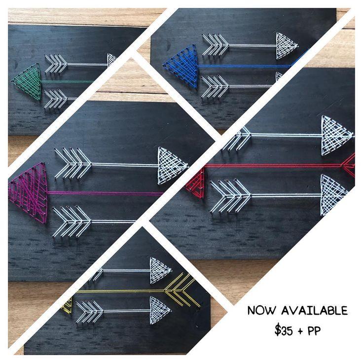New Tribal/Aztec Arrow string art design $35 plus postage Australia Wide www.etsy.com/shop/hammerandtwine/