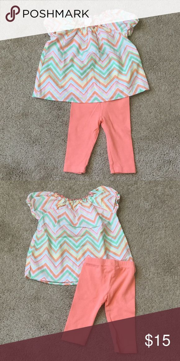 Baby Nay Spring Pastel Chevron Outfit Baby Nay Spring Pastel Chevron Outfit.  Size 3m.  100% Cotton. EUC. Baby Nay Matching Sets