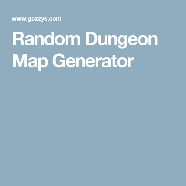Random Dungeon Map Generator