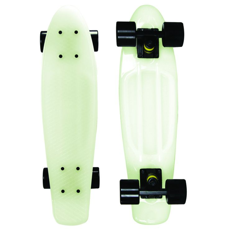 Ships Free This durable Mayhem 22-in penny kids skateboard is absolutely the wildest, coolest board around. Why because its nuts, zanny! Its glow in the dark - as if Casper is whirling around doing tr