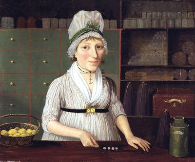 A Glasgow shopkeeper of the 1790s, by an unknown artist.