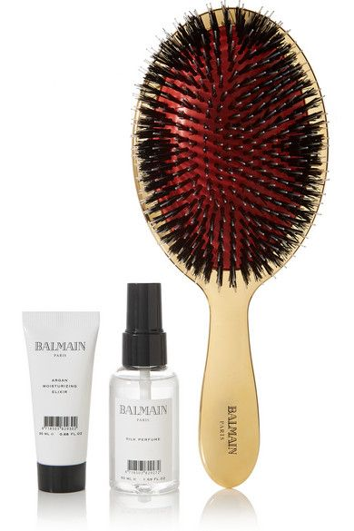 Balmain Paris Hair Couture Bold Boar Bristle Brush & Haircare Set, $209; net-a-porter.com